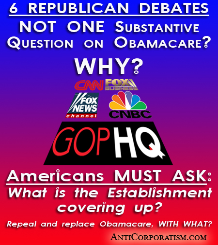 Networks and Establishment avoiding questions on Obamacare WHY?