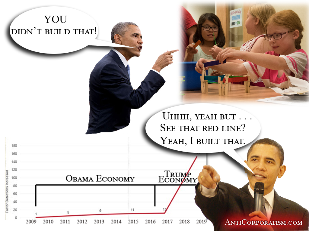 You didn't build that but obama built the 2018 economy - anticorporatism.com