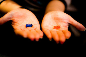 Republican Democrat Red Pill Blue Pill by Héctor García